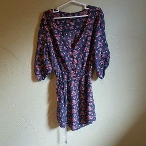 Floral half sleeve dress